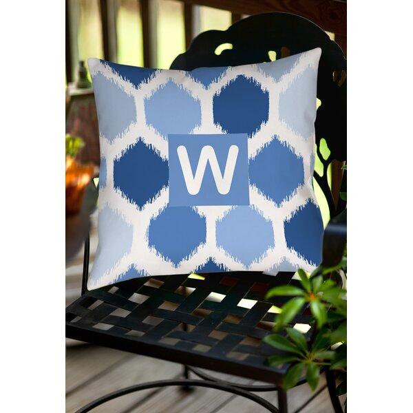 Sandell Monogram Printed Throw Pillow by Latitude Run