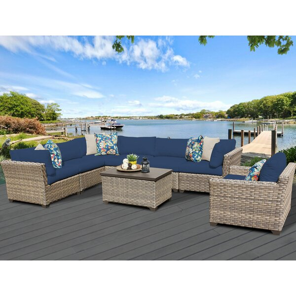 Rochford 8 Piece Rattan Sectional Seating Group with Cushions by Sol 72 Outdoor