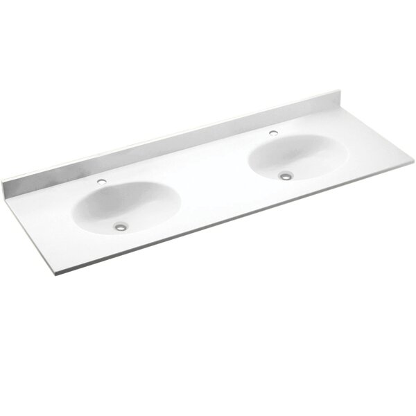 Best Price Chesapeake Solid Surface 73 Double Bathroom Vanity Top By