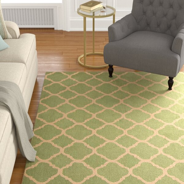 Fullerton Green/Ivory Geometric Area Rug by Alcott Hill
