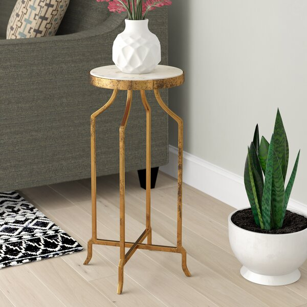 Callimont Marble End Table by Bungalow Rose