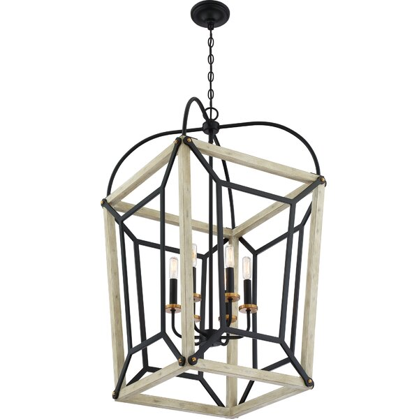 Devonshire 6 - Light Lantern Square Chandelier By Gracie Oaks