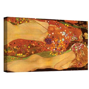 'Water Snakes' by Gustav Klimt Print of Painting on Canvas by World Menagerie