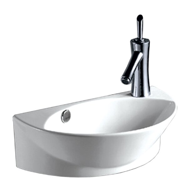 Isabella Vitreous China 18 Wall Mount Bathroom Sink with Overflow by Whitehaus Collection