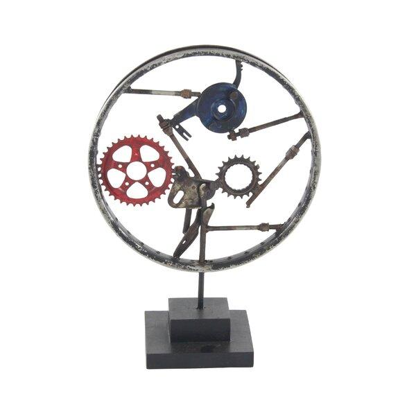 Reinier Industrial Decorative Gear Sculpture by 17 Stories