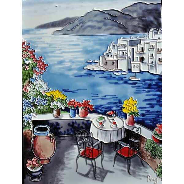 Balcony View Tile Wall Decor by Continental Art Center