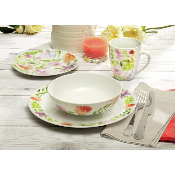 Lowenthal Watercolor 16 Piece Dinnerware Set, Service for 4 by Winston Porter