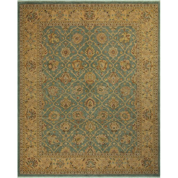 One-of-a-Kind Bodrum Hand-Knotted Wool Brown/Blue Area Rug by Canora Grey