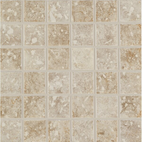 San Perla 2 x 2 Ceramic Mosaic Tile in Baronial Beige and Traditional Taupe Blend by Mohawk Flooring
