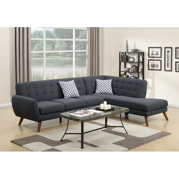 Web Shopping Bobkona Right Hand Facing Belinda Sectional by Poundex by Poundex
