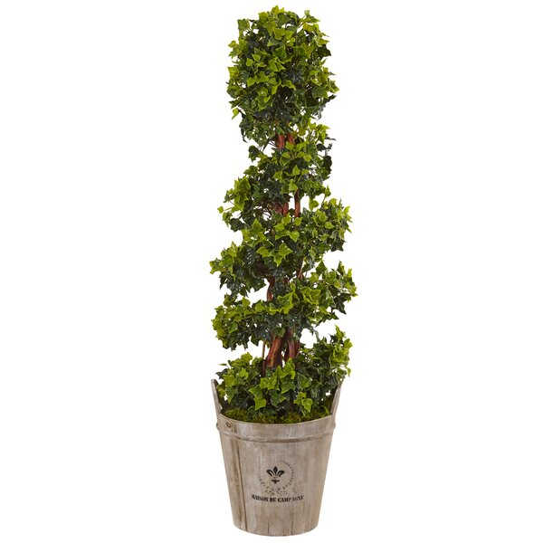Artificial English Floor Ivy Topiary in Planter by Fleur De Lis Living