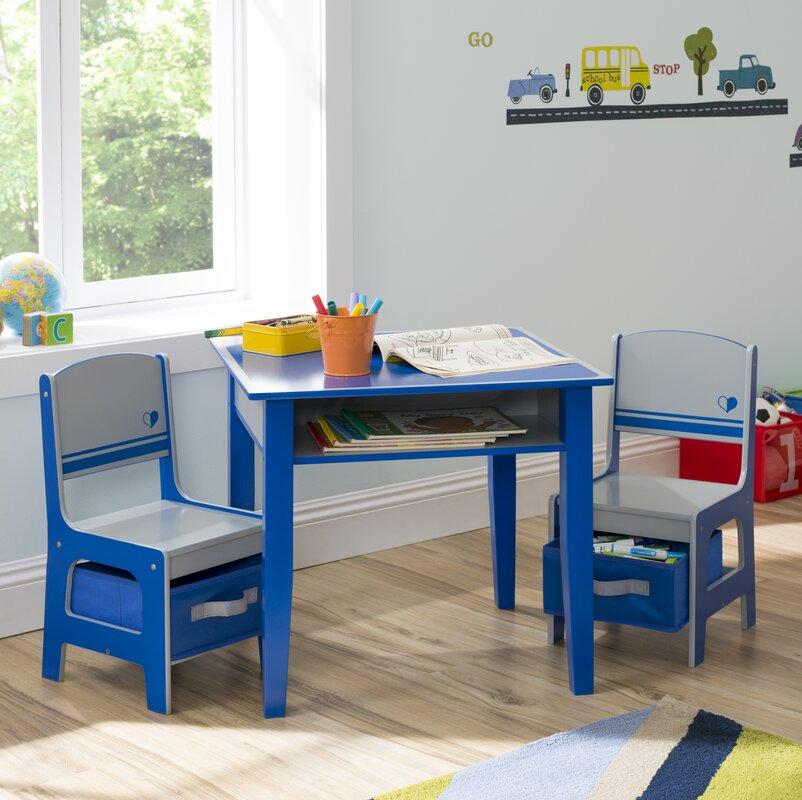Delta Children Jack And Jill Kids 3 Piece Table And Chair Set U0026 Reviews |  Wayfair