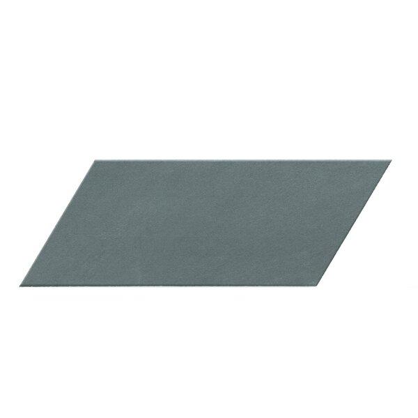 Cement Series 4 x 10 Porcelain Field Tile in Gray Chevron by Walkon Tile