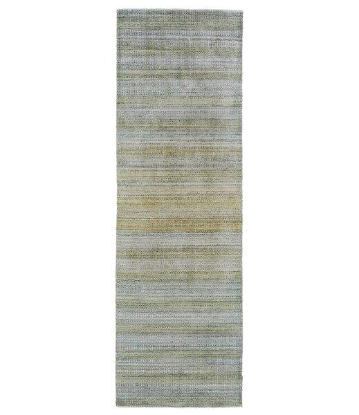 Ewell Hand-Tufted Wool Green Area Rug