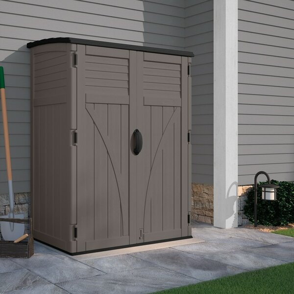 4 ft. 5 in. W x 2 ft. 9 in. D Plastic Vertical Tool Shed by Suncast