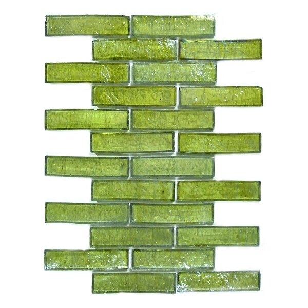 Bamboo 1 x 4 Glass Mosaic Tile in Olivia by Abolos