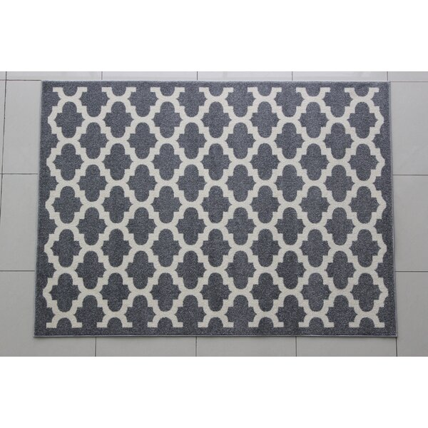 Mariemont Gray/Ivory Area Rug by Charlton Home