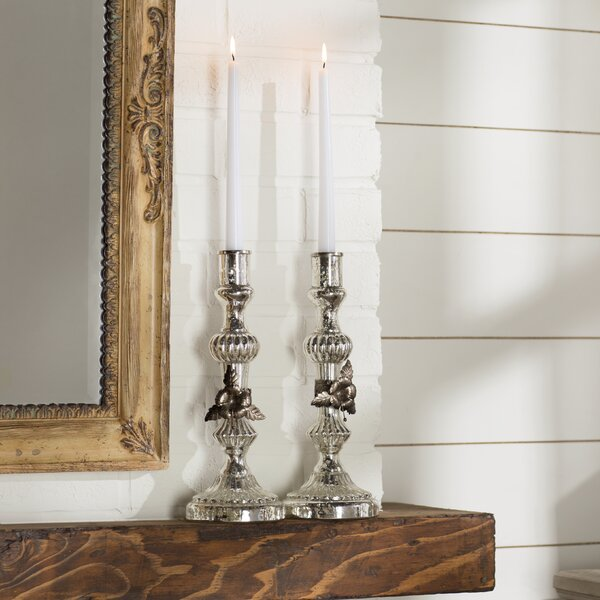 Sarrant Glass Candlestick by Lark Manor