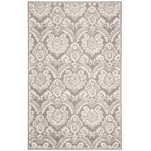 Coupon Deidamia Hand-Woven Wool Silver/Ivory Area Rug ByOphelia & Co.