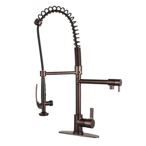 Continental Pull Down Double Handle Kitchen Faucet by Kingston Brass