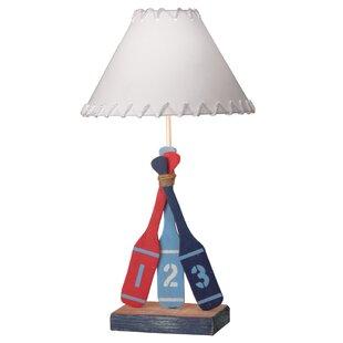 Cherry wood table lamp wayfair southington 3 oar wood 28 table lamp aloadofball Image collections