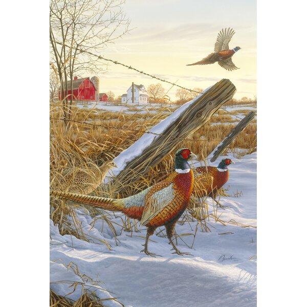 Pleasant Pheasants 2-Sided Garden flag by Toland Home Garden