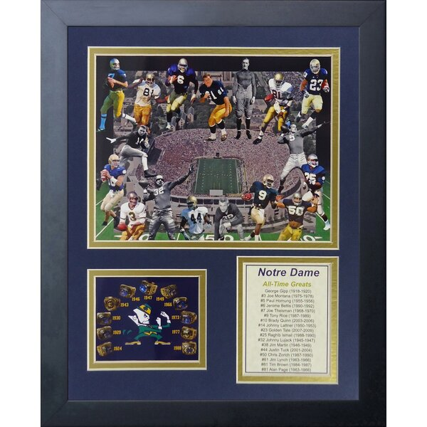 Notre Dame Greats Framed Memorabilia by Legends Never Die