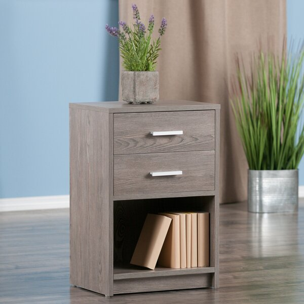 Crass End Table With Storage By Ebern Designs