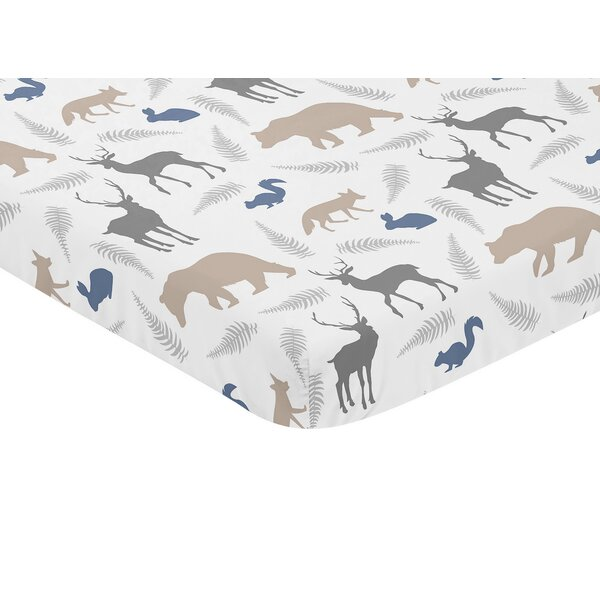 Woodland Animals Fitted Mini Crib Sheet by Sweet Jojo Designs