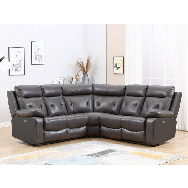 Iron Symmetrical Acton Symmetrical Reclining Sectional by Red Barrel Studio