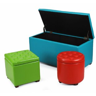 3 Piece Home Storage Ottoman Set