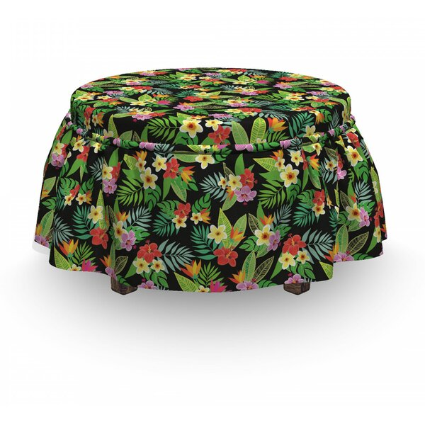 Floral Botany Composition Ottoman Slipcover (Set Of 2) By East Urban Home