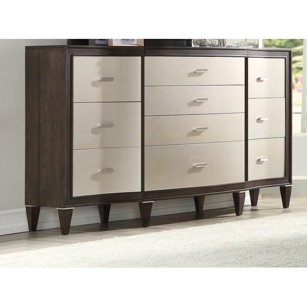 Fuselier 10 Drawer Double Dresser by House of Hampton