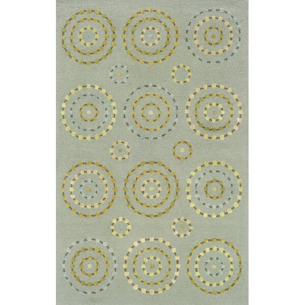 Jacey Blue/Beige Area Rug by Harriet Bee