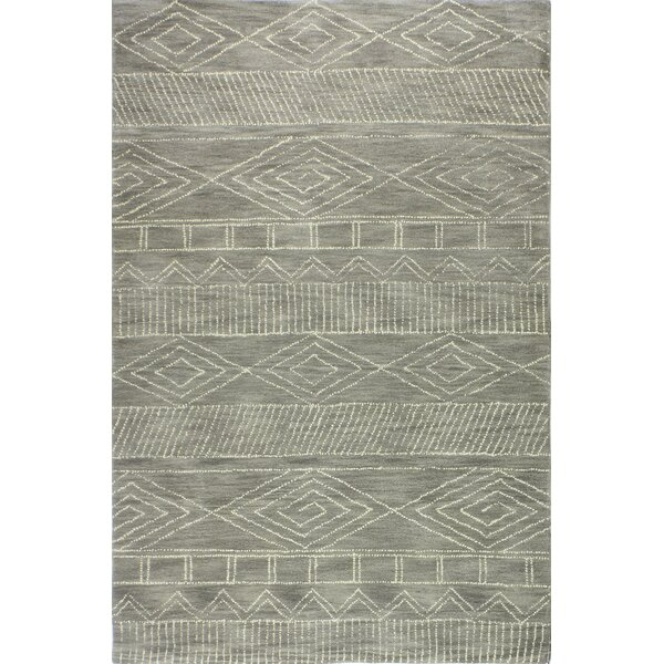 Drihmi Hand Tufted Wool Taupe Area Rug by Union Rustic