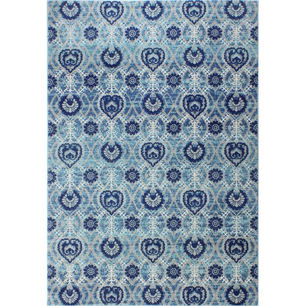 Arlingham Gray/Blue Area Rug by Bungalow Rose