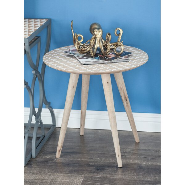 Los Gatos Lattice Patterned End Table By Bungalow Rose