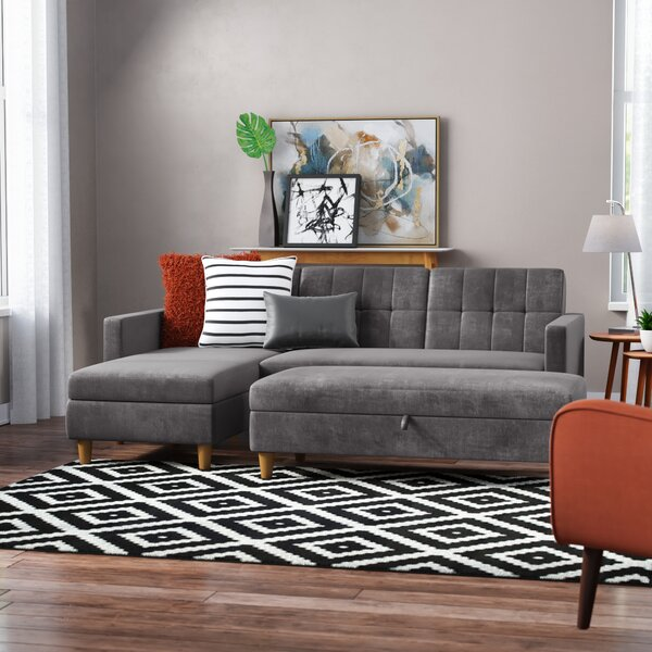 Looking for Cordell Reversible Sleeper Sectional With Ottoman By Mistana Modern