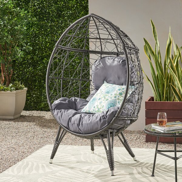 Reese Wicker Teardrop Swing Chair by Bloomsbury Market Bloomsbury Market