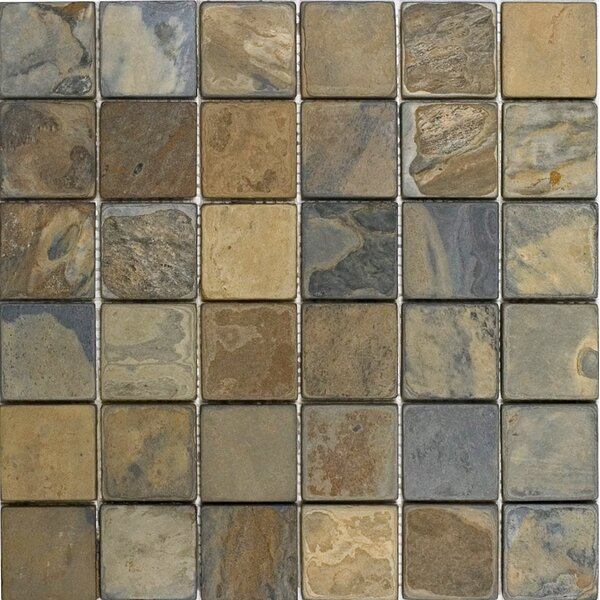 2 x 2 Slate Mosaic Tile in California Rustic by Epoch Architectural Surfaces
