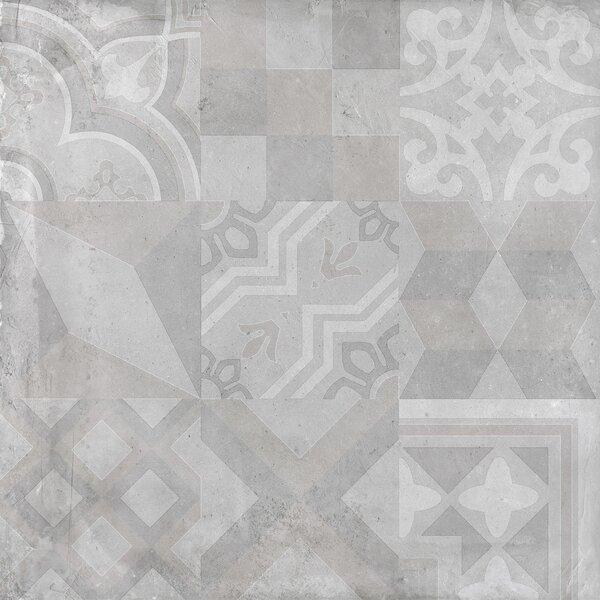 Alive 24 x 24 Porcelain Tile in Dust Deco by Madrid Ceramics