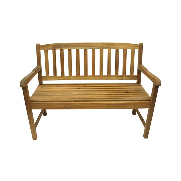 Acacia Wood Outdoor Patio Garden Bench by Northlight Seasonal