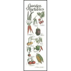Life Lines Garden Vegetables by Lori Voskuil-Dutter Graphic Art Plaque by LPG Greetings