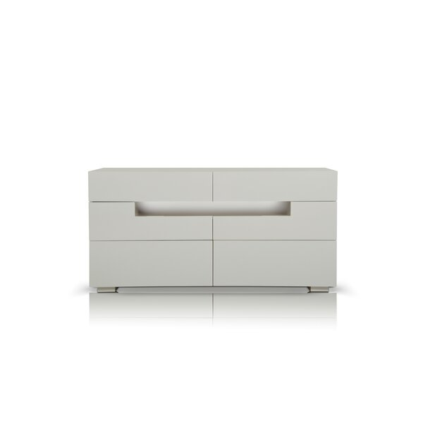 Stiffler 6 Drawer Double Dresser by Orren Ellis