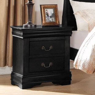 Colyer 2 - Drawer Nightstand in Black by Alcott Hill®