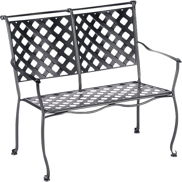 Maddox Wrought Iron Garden Bench by Woodard