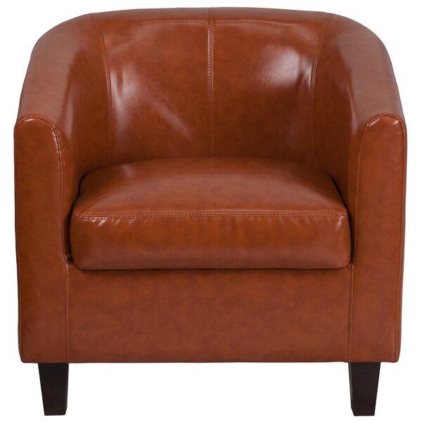 Olanta Bonded Leather Lounge Chair by Latitude Run