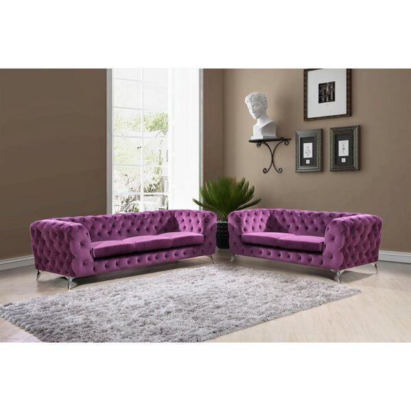 Weiss Chesterfield 2 Piece Living Room Set by Mercer41