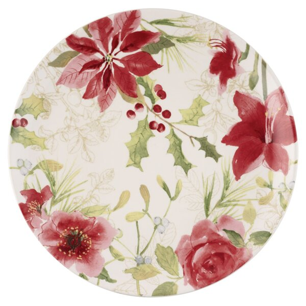 Holiday Floral Platter by Paula Deen