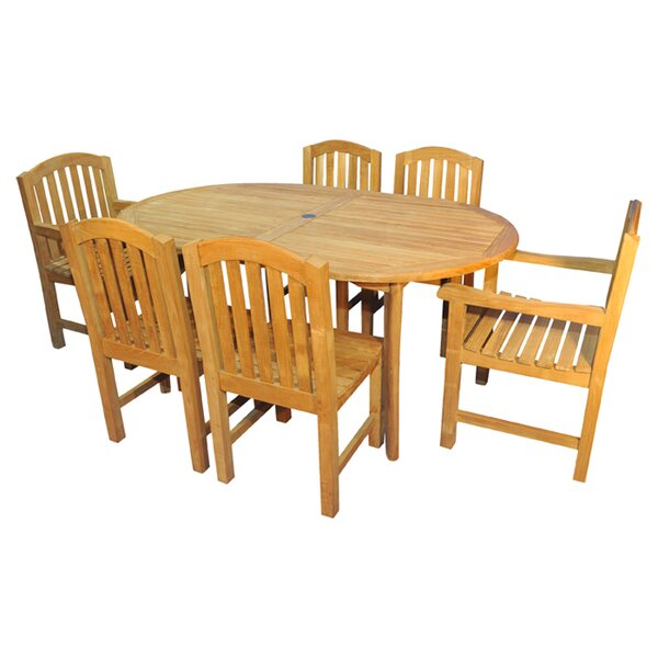 Bueller 7 Piece Teak Dining Set by Regal Teak